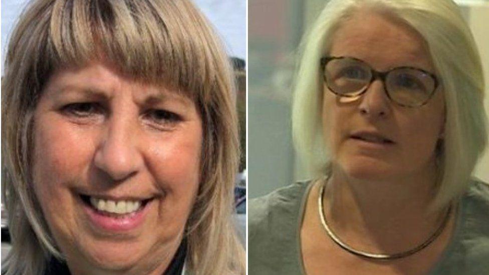 Julie Cook a Dr Eleri Davies