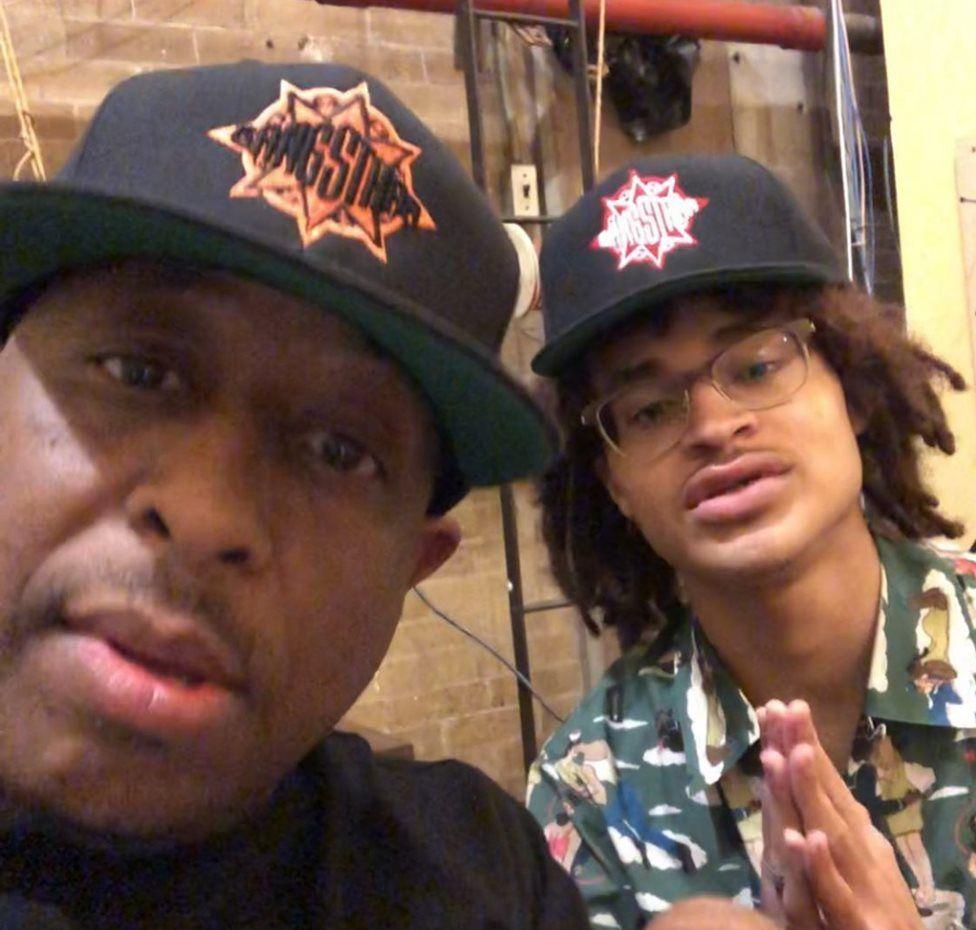 DJ Premier in the studio with Guru's son, Keith