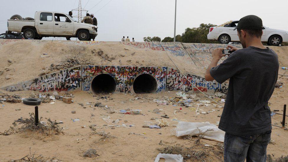 Gadaffi's last hiding place