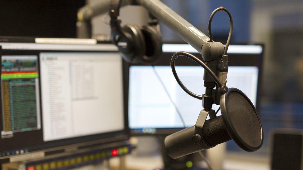A radio studio