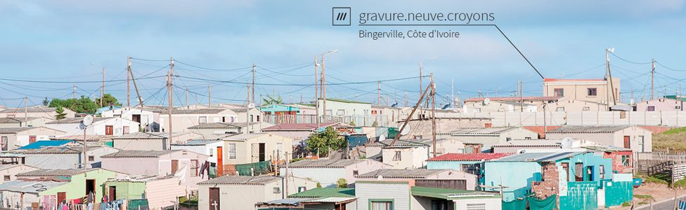 A photo showing the location of a three-word address in Bingerville, Ivory Coast