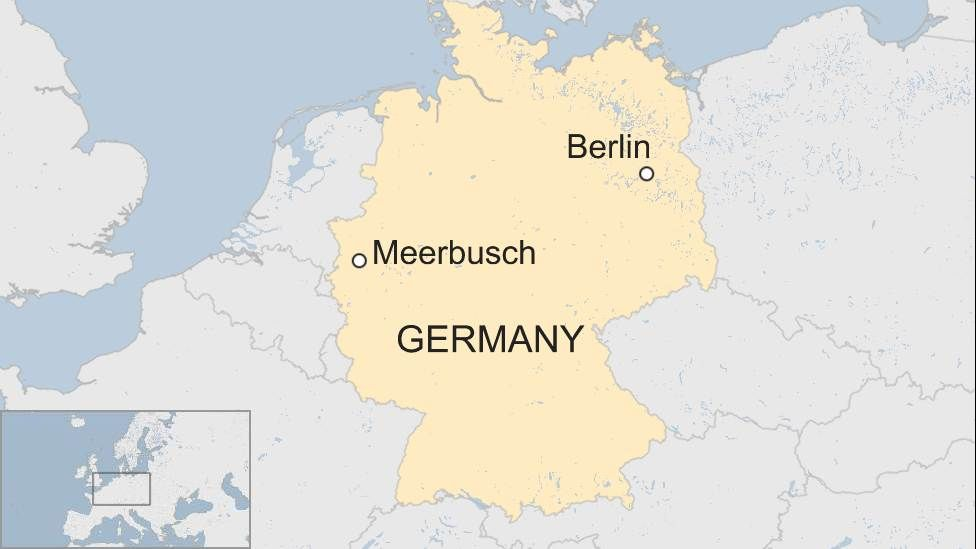 Map showing Meerbusch in Germany
