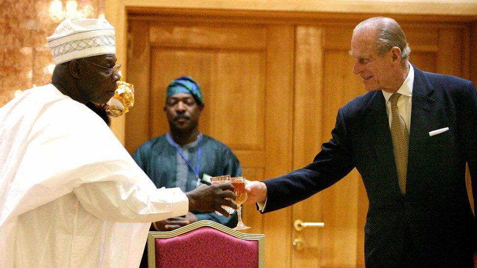 President of Nigeria and Prince Philip, 2003
