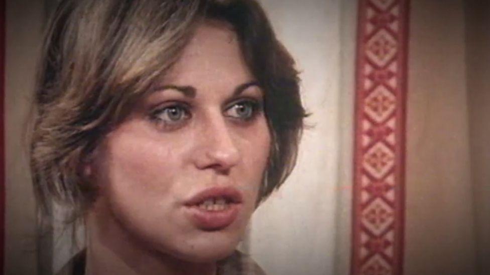 Screengrab from a 9news video of Sallie-Anne Huckstepp