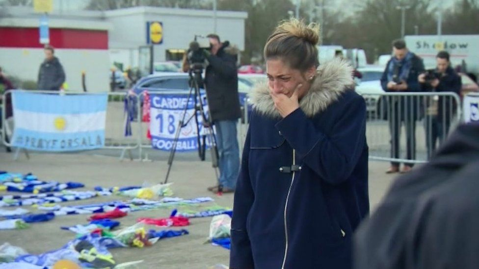 Emiliano Sala's sister Romina at Cardiff City Stadium