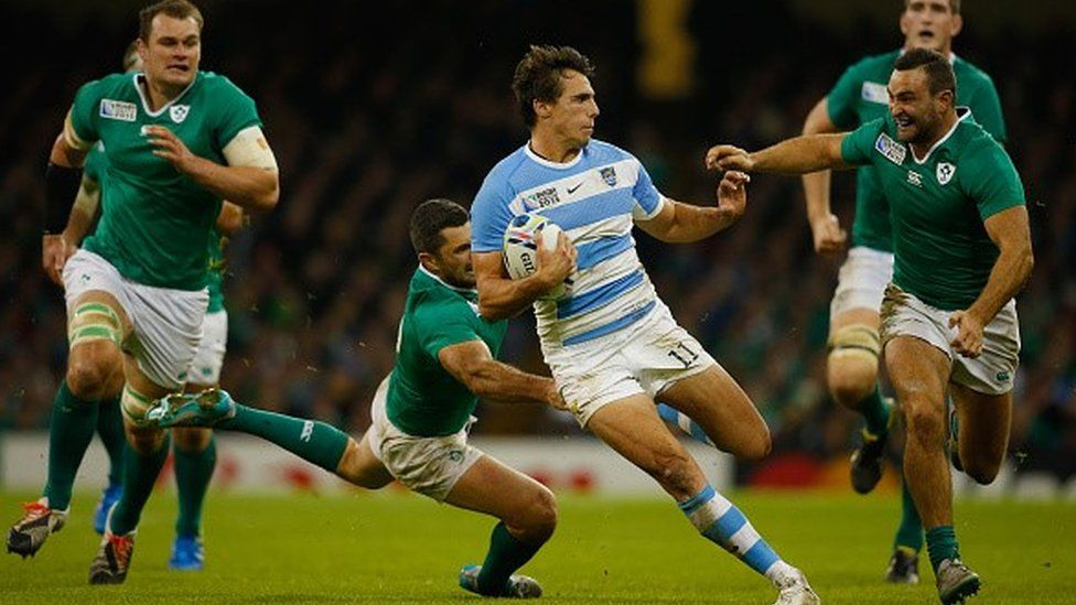 Argentina v Ireland in the Rugby World Cup quarter final