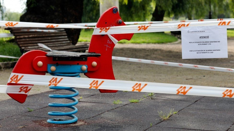 Playgrounds remain out of bounds for children
