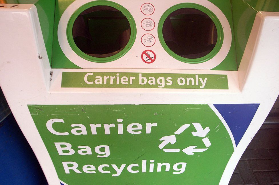 Carrier bag recycling point