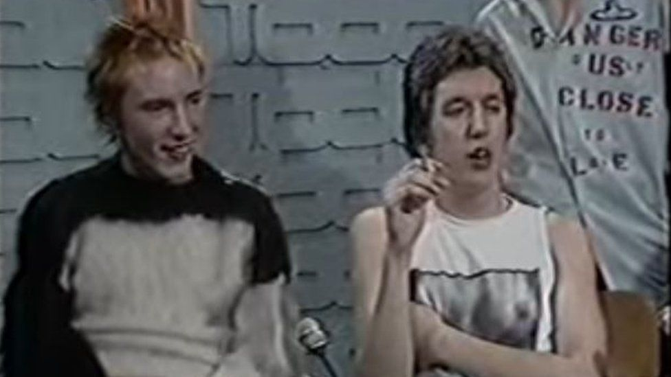 John Lydon and Steve Jones of the Sex Pistols on the Today show hosted by Bill Grundy