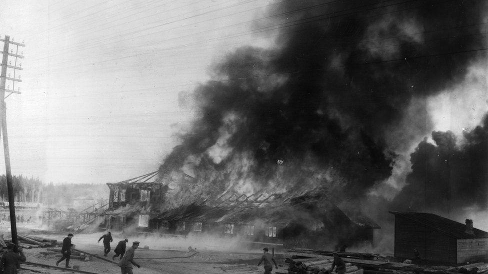Civil war scene in Finland in 1918