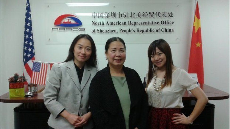 Ms Phan-Gillis at the North American Representative Office of Shenzhen, in China