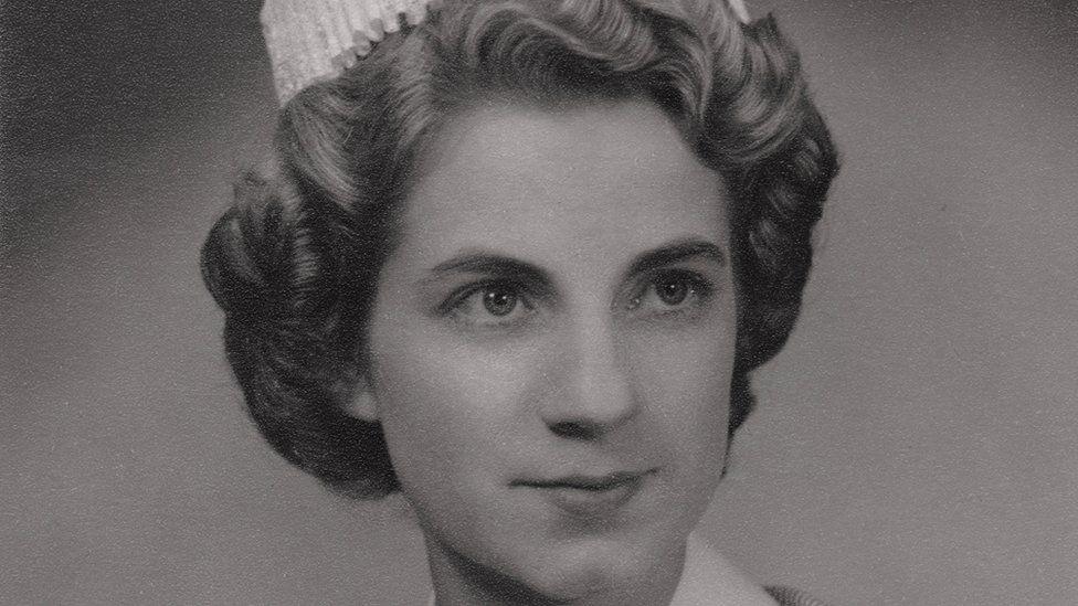 Cynthia Tuck in her nurse uniform