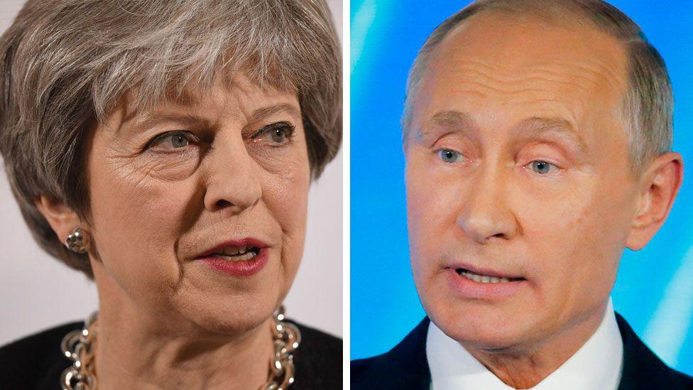 Theresa May/Vladimir Putin composite