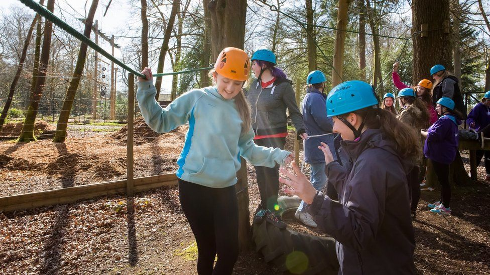 Guides taking part in outdoor activities