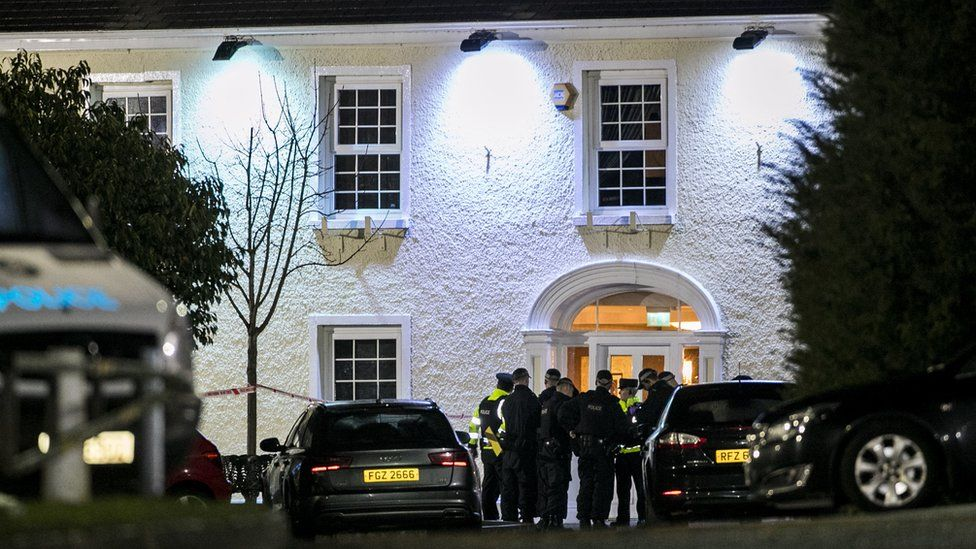 Police outside the Greenvale Hotel