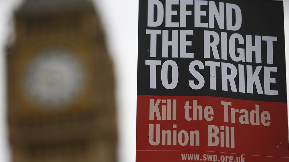 Poster attacks the Trade Union Bill