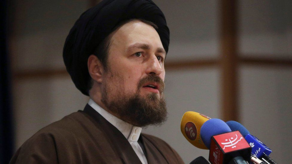 File photo of Hassan Khomeini, grandson of the founder of Iran's Islamic Republic, Ayatollah Khomeini