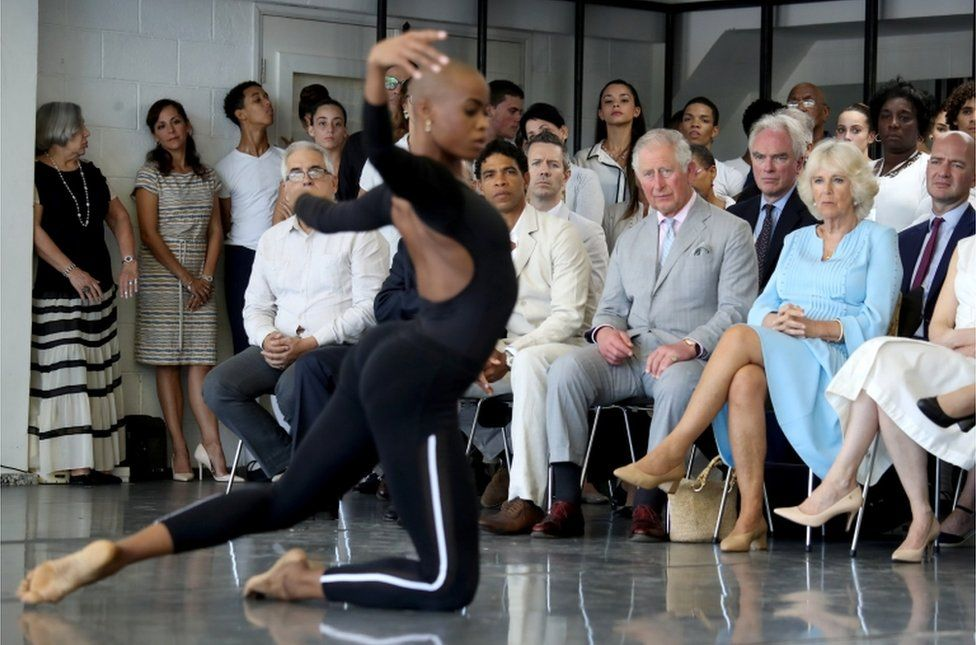 Prince Charles and Camilla watch the Acosta Dance Company in Havana