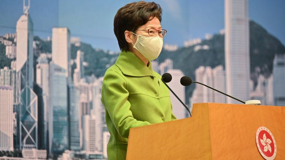 Hong Kong leader Carrie Lam, who has been a strong advocate for the new law