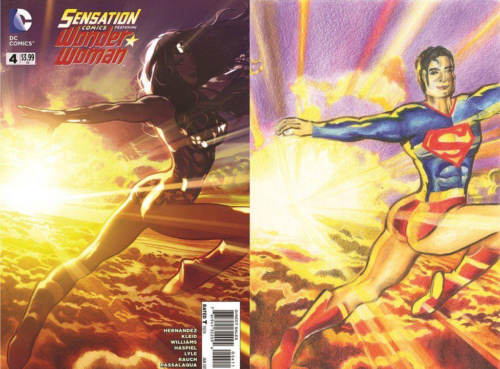 Comic cover by Shreya Arora showing her interpretation of Superman