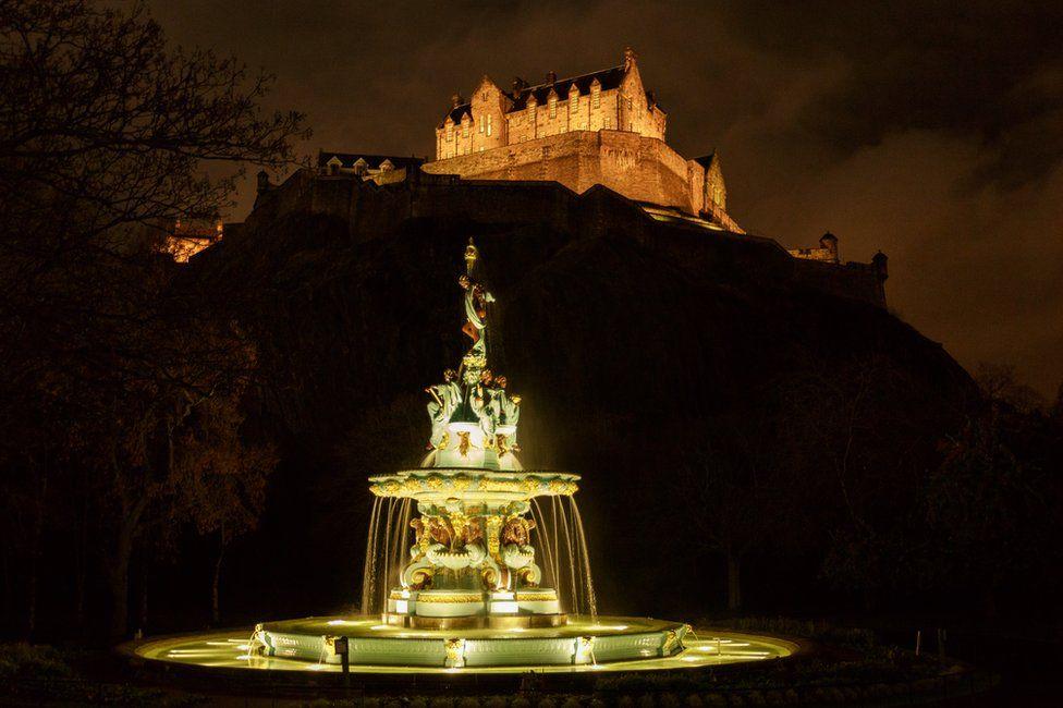 Ross Fountain in West Prince's Street Gardens, Edinburgh