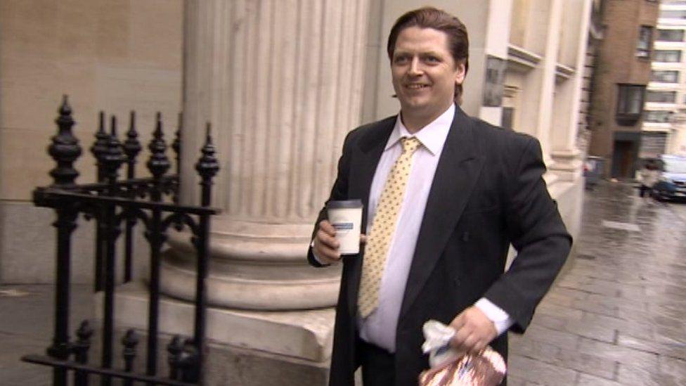 James Toogood arriving at Bristol Crown Court