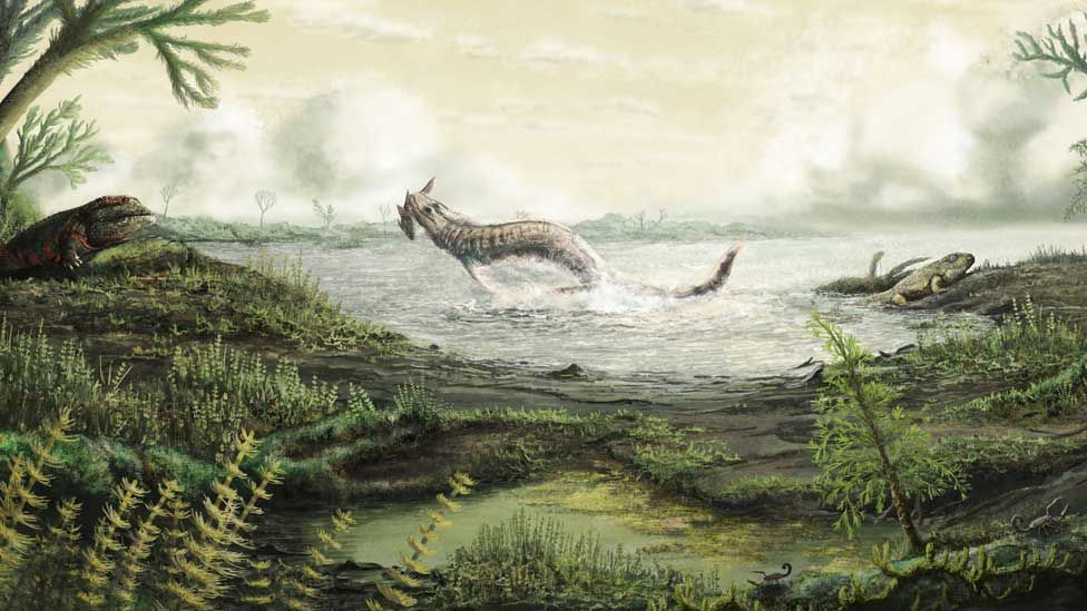 Artist's impression of life at the time