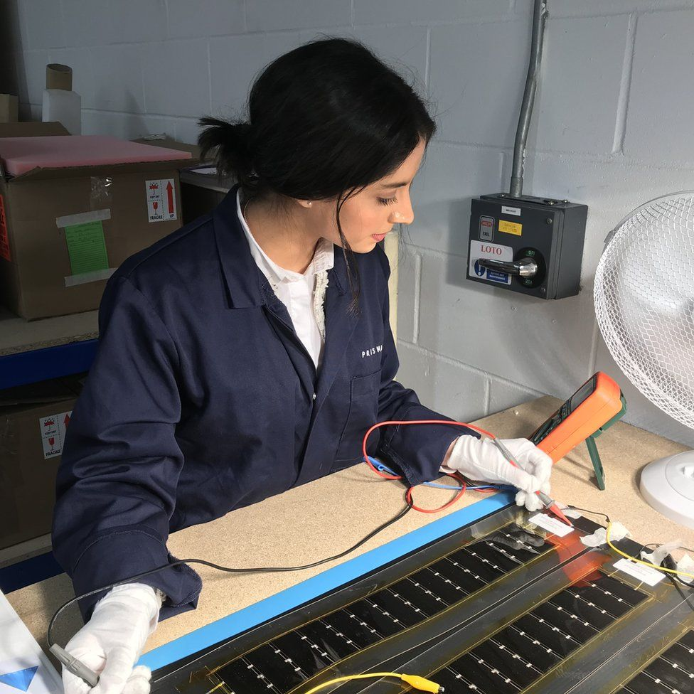 Testing the solar panels