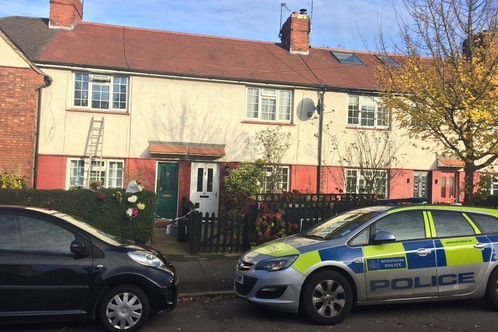 Police activity outside a house on Hill Road, Muswell Hill