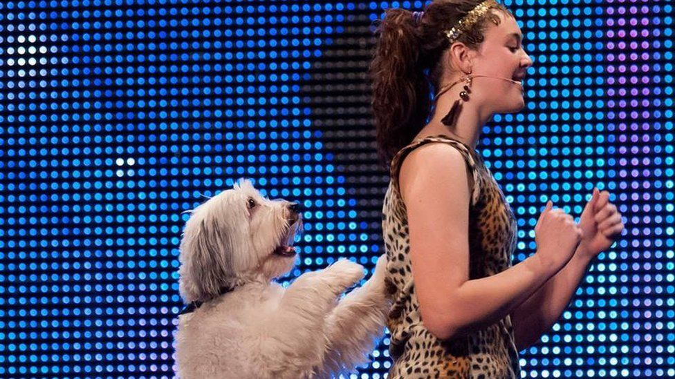 Ashleigh Butler and Pudsey the dog performing on Britain's Got Talent.