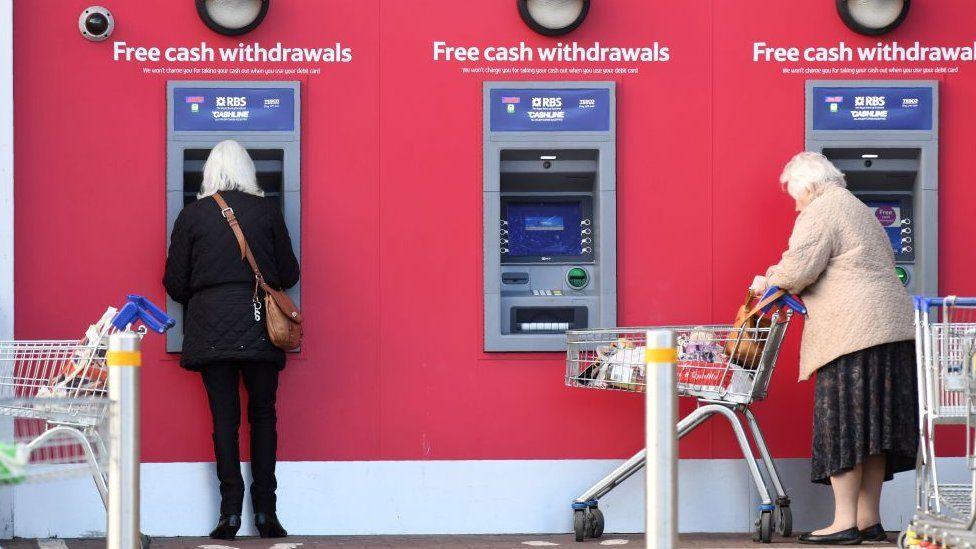 cash machines outside Tesco