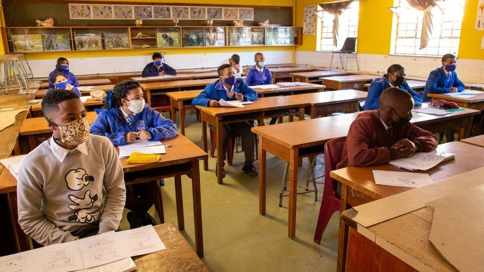 A classroom returns in South Africa