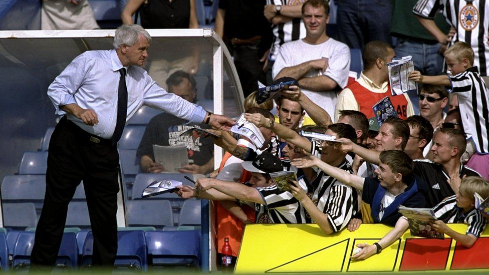 Bobby Robson and Newcastle United fans