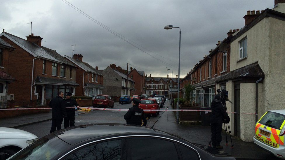 Police have cordoned off a number of streets in the area