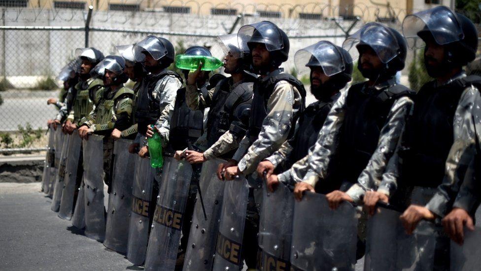 Police in Kabul, 23 July