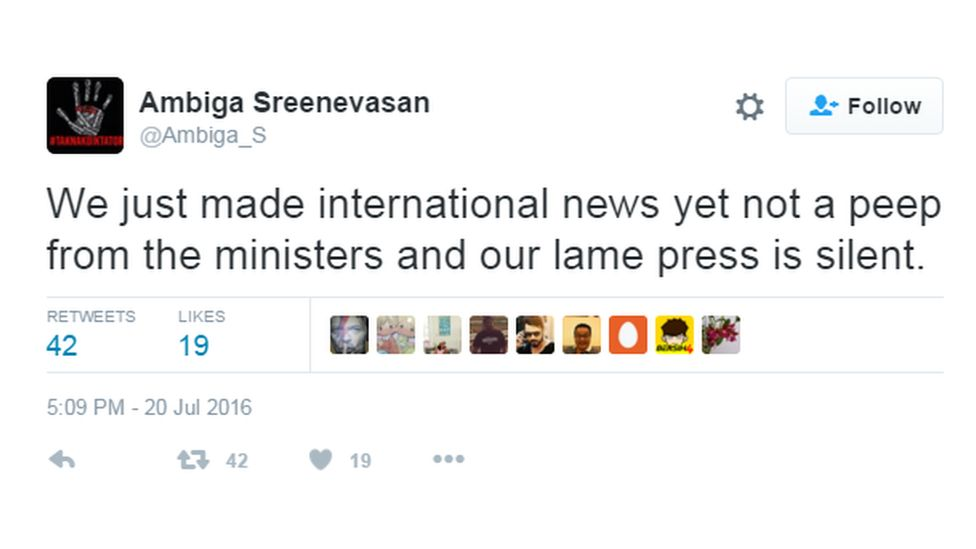 """""""We just made international news yet not a peep from the ministers and our lame press is silent"""""""