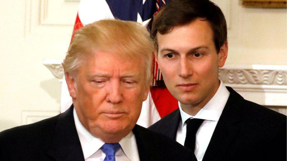 Jared Kushner with President Trump