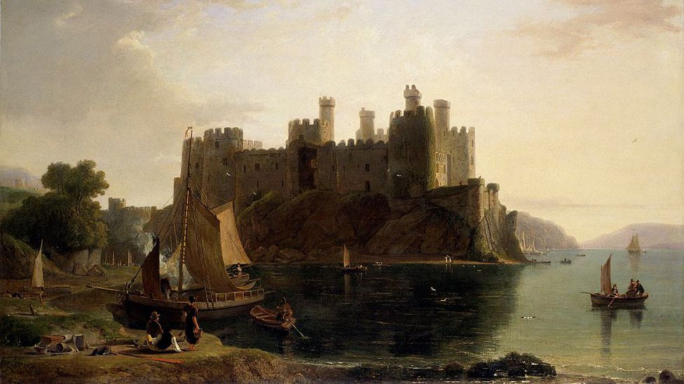 William Daniell's painting of Conwy Castle from 1789