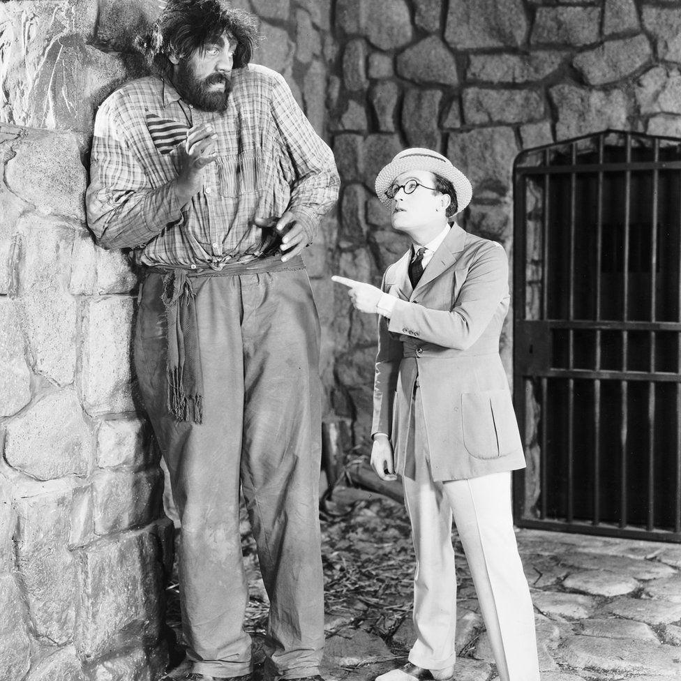 Harold Lloyd and John Aasen