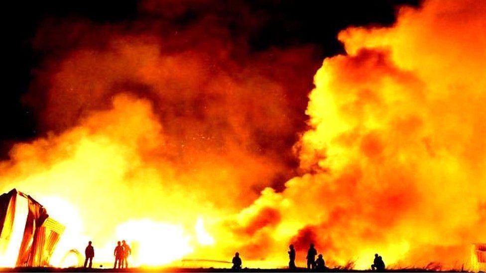 Firefighters battle Enfield blaze
