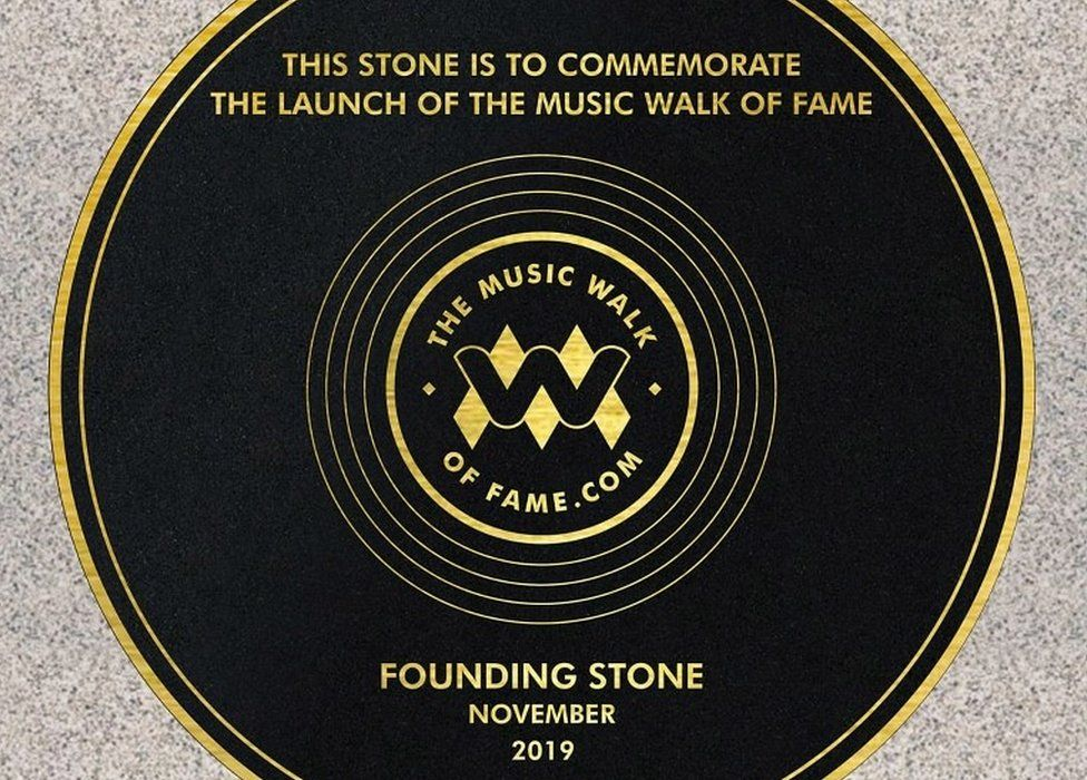 Founding stone for Music Walk of Fame