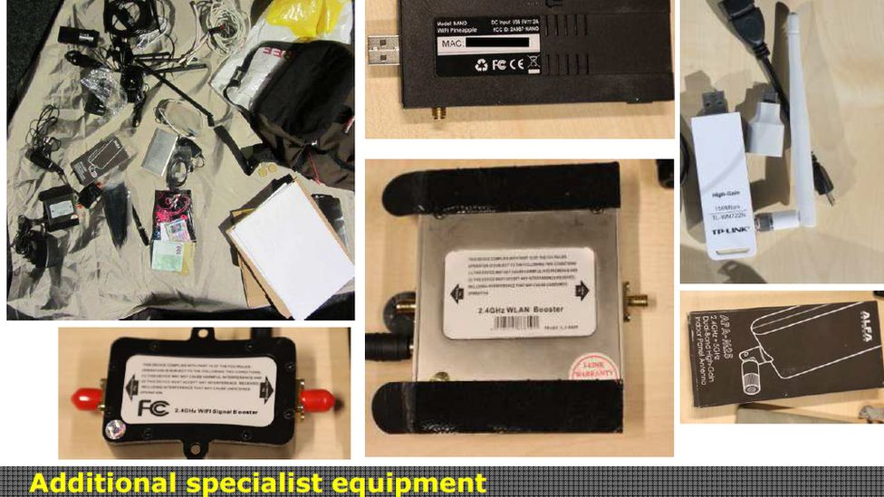 Pictures of specialist equipment detected