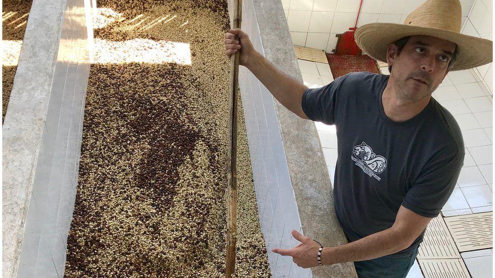 Coffee farmer Andres Fahsan