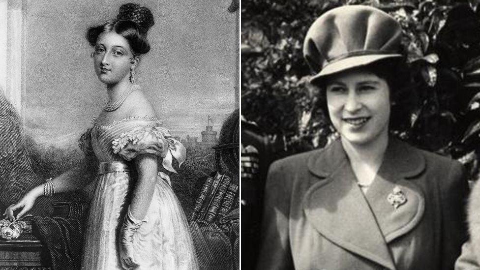 Queen Victoria and Queen Elizabeth