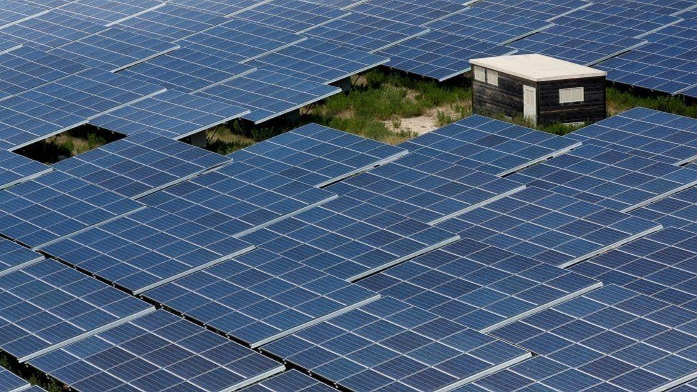 Solar panels in France, 2018 photo