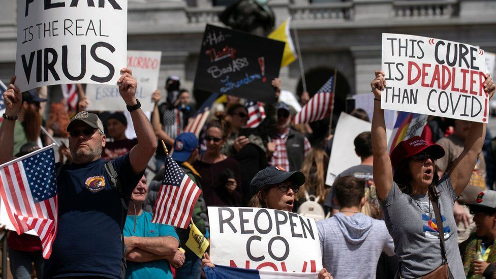 Protests have been planned for across the US calling for the lifting of stay-at-home orders.