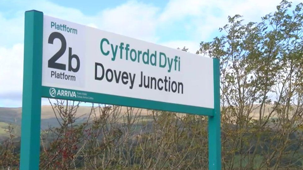 Arwydd Cyffordd Dyfi