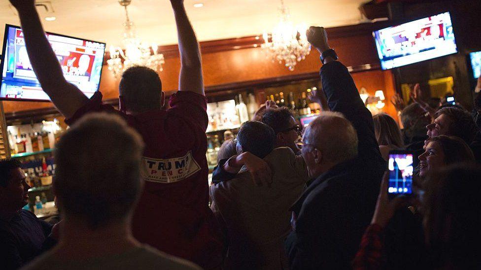 Trump supporters celebrating