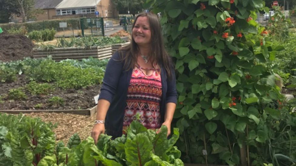 Lisa Lewis, who has helped grow the allotments into a special community project
