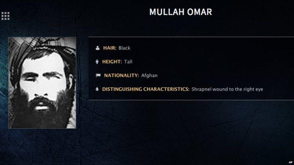 FBI wanted poster for Mullah Omar